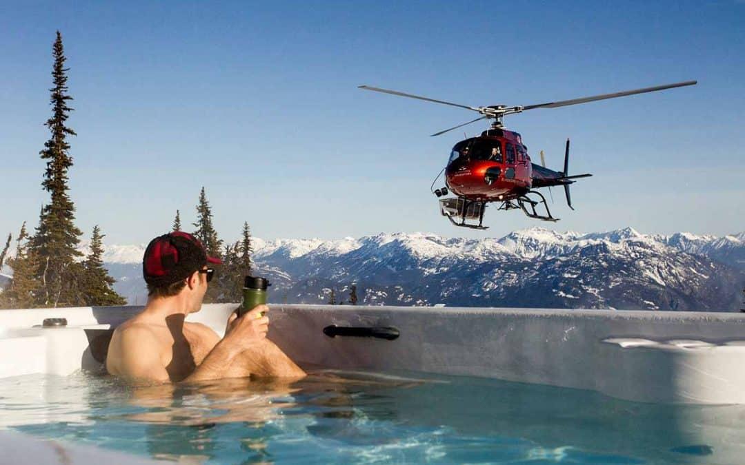 arcticspas hottub helicopter
