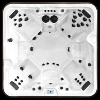Arctic Spas McKinley model, top view of the Signature jet configuration